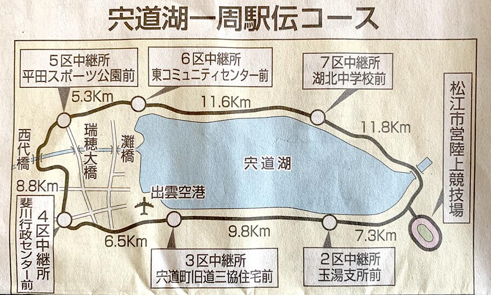 宍道湖一周駅伝コース